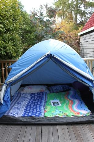 unsere guenstigste unterkunft das zelt jetzt zu kalt
